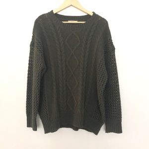 Tularosa XS Chunky Knit Sweater Green